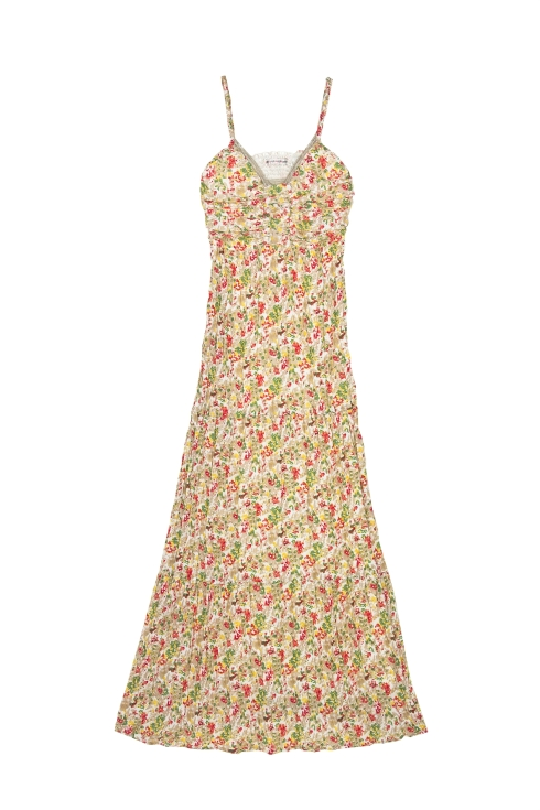 vestido largo flores (34,90 euros)
